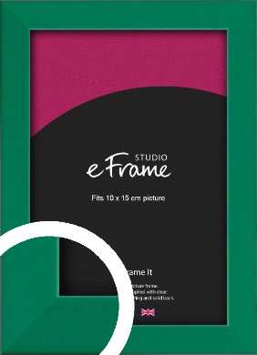 Emerald Green Picture Frame, 10x15cm (4x6