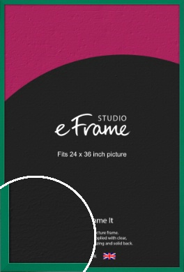Emerald Green Picture Frame, 24x36