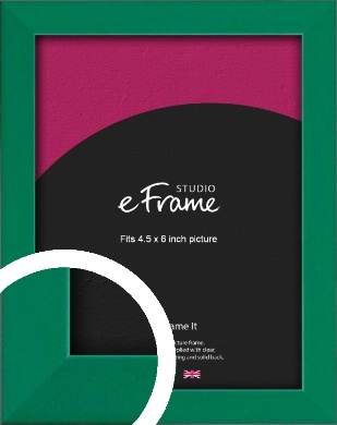 Emerald Green Picture Frame, 4.5x6
