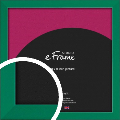 Emerald Green Picture Frame, 8x8