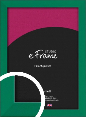 Emerald Green Picture Frame, A5 (148x210mm) (VRMP-814-A5)