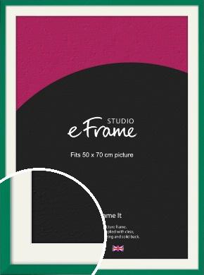 Emerald Green Picture Frame & Mount, 50x70cm (VRMP-814-M-50x70cm)