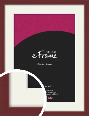Wine Red Picture Frame & Mount, A4 (210x297mm) (VRMP-815-M-A4)