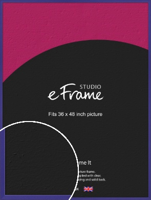 Royal Purple Picture Frame, 36x48