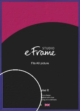 Royal Purple Picture Frame, A0 (841x1189mm) (VRMP-816-A0)