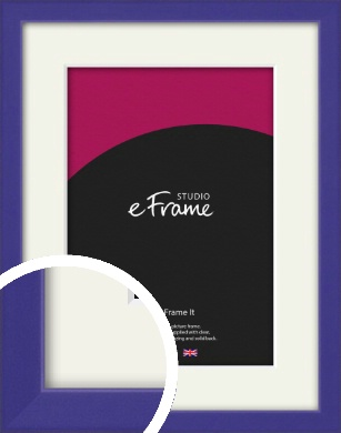 Royal Purple Picture Frame & Mount (VRMP-816-M)