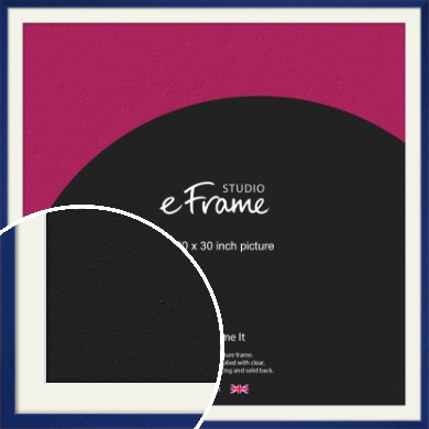 Simple Prussian Blue Picture Frame & Mount, 30x30