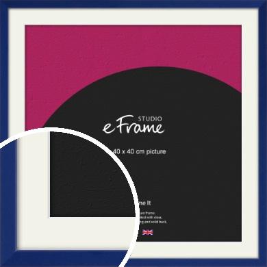 Simple Prussian Blue Picture Frame & Mount, 40x40cm (VRMP-817-M-40x40cm)