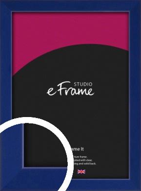 Simple Prussian Blue Picture Frame (VRMP-817)