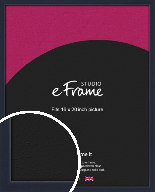Straight Edged Navy Blue Picture Frame, 16x20