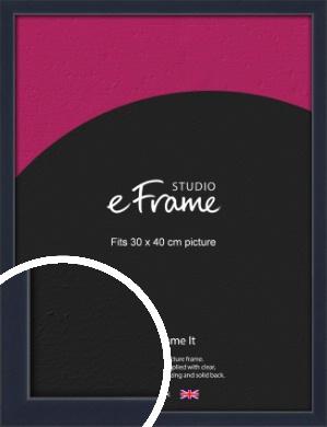 Straight Edged Navy Blue Picture Frame, 30x40cm (VRMP-818-30x40cm)