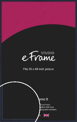 Straight Edged Navy Blue Picture Frame, 30x48