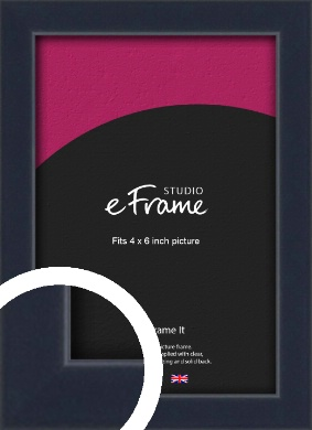 Straight Edged Navy Blue Picture Frame, 4x6