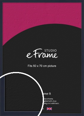 Straight Edged Navy Blue Picture Frame, 50x70cm (VRMP-818-50x70cm)