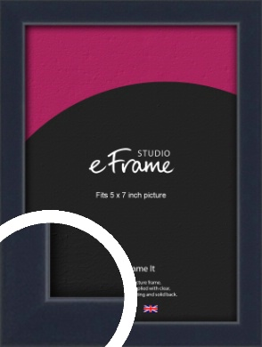 Straight Edged Navy Blue Picture Frame, 5x7
