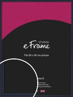 Straight Edged Navy Blue Picture Frame, 60x80cm (VRMP-818-60x80cm)