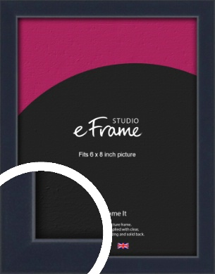 Straight Edged Navy Blue Picture Frame, 6x8