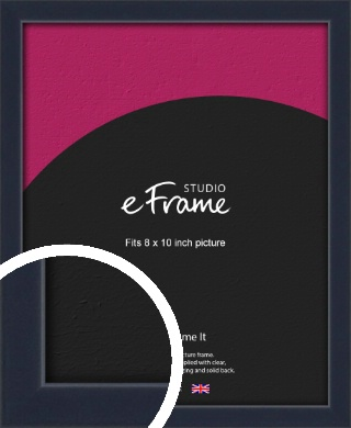 Straight Edged Navy Blue Picture Frame, 8x10