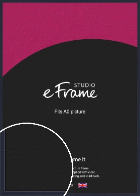 Straight Edged Navy Blue Picture Frame, A0 (841x1189mm) (VRMP-818-A0)