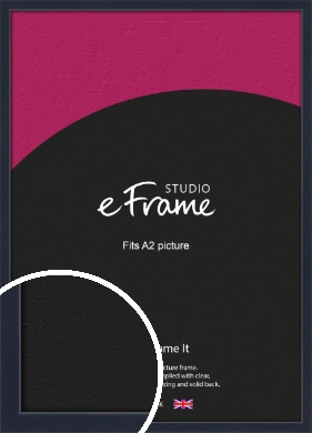 Straight Edged Navy Blue Picture Frame, A2 (420x594mm) (VRMP-818-A2)