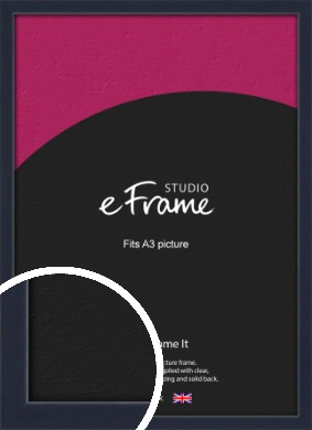 Straight Edged Navy Blue Picture Frame, A3 (297x420mm) (VRMP-818-A3)