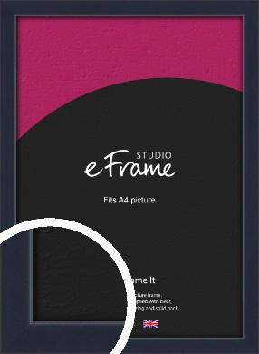 Straight Edged Navy Blue Picture Frame, A4 (210x297mm) (VRMP-818-A4)