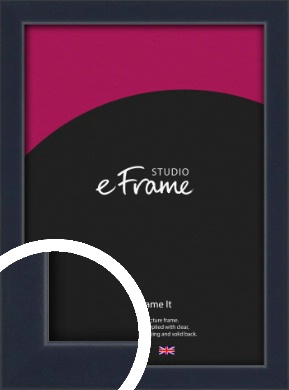 Straight Edged Navy Blue Picture Frame (VRMP-818)
