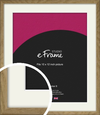 Farmhouse Natural Wood Picture Frame & Mount, 10x12