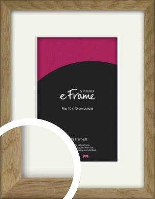 Farmhouse Natural Wood Picture Frame & Mount, 10x15cm (4x6