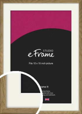 Farmhouse Natural Wood Picture Frame & Mount, 10x15