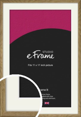 Farmhouse Natural Wood Picture Frame & Mount, 11x17