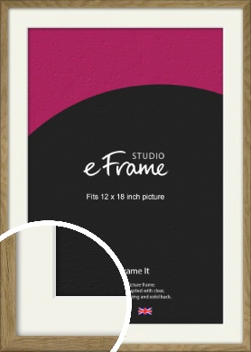 Farmhouse Natural Wood Picture Frame & Mount, 12x18