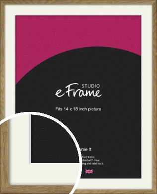 Farmhouse Natural Wood Picture Frame & Mount, 14x18