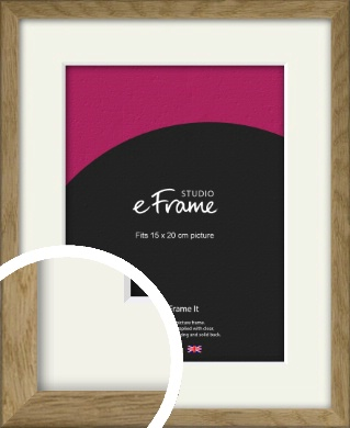 Farmhouse Natural Wood Picture Frame & Mount, 15x20cm (6x8