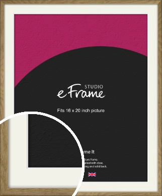 Farmhouse Natural Wood Picture Frame & Mount, 16x20