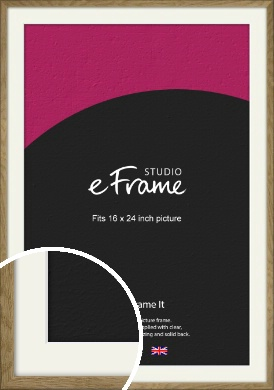 Farmhouse Natural Wood Picture Frame & Mount, 16x24