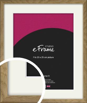 Farmhouse Natural Wood Picture Frame & Mount, 20x25cm (8x10