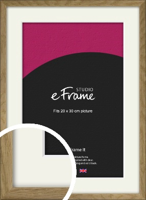 Farmhouse Natural Wood Picture Frame & Mount, 20x30cm (8x12