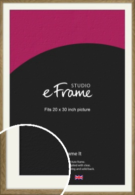 Farmhouse Natural Wood Picture Frame & Mount, 20x30
