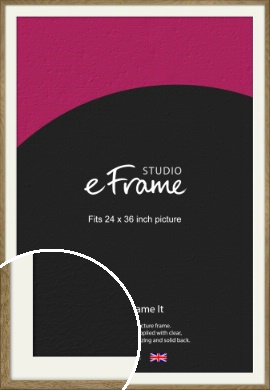 Farmhouse Natural Wood Picture Frame & Mount, 24x36