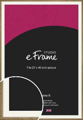Farmhouse Natural Wood Picture Frame & Mount, 27x40