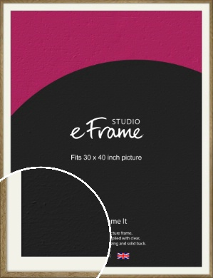 Farmhouse Natural Wood Picture Frame & Mount, 30x40