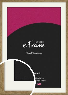 Farmhouse Natural Wood Picture Frame & Mount, A3Plus (VRMP-822-M-329x483mm)