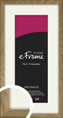 Farmhouse Natural Wood Picture Frame & Mount, 4x10