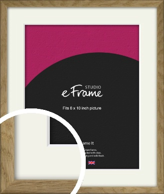 Farmhouse Natural Wood Picture Frame & Mount, 8x10