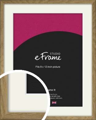 Farmhouse Natural Wood Picture Frame & Mount, 9x12