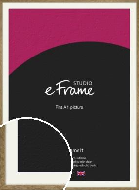 Farmhouse Natural Wood Picture Frame & Mount, A1 (594x841mm) (VRMP-822-M-A1)