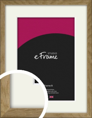 Farmhouse Natural Wood Picture Frame & Mount (VRMP-822-M)