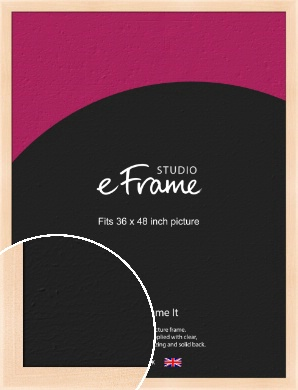 Rounded Natural Wood Picture Frame, 36x48
