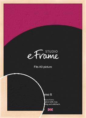 Rounded Natural Wood Picture Frame, A0 (841x1189mm) (VRMP-266-A0)